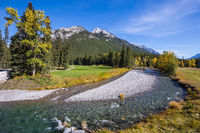 Sunny autumn day in the Canadian Rockies