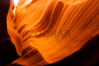 Sunlight Beams Through Crevasse Sandstone Rock Antelope Slot Canyon