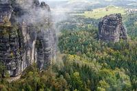 Herbst im Elbsandsteingebirge Region Bad Schandau Schrammsteine