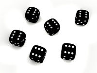 Black playing dice