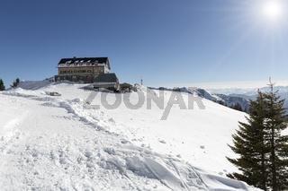 Das Rotwandhaus im Winter