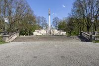 Friedensengel in München im Frühling