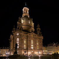 Frauenkirche in der Altstadt von Dresden