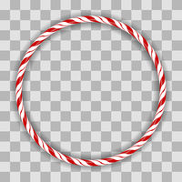Sweet Striped Candy Circle Frame