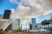 La Defense business district in Paris