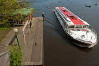 ferry boat on lake Alster