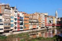 City of Girona Skyline in Spain