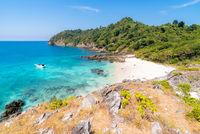 Tropical white sand beach Aerial
