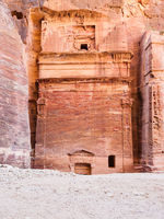 ancient nabataean tomb in Petra city