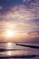 Verträume Stimmung am Strand am Morgen