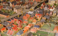 Old maquette of a village