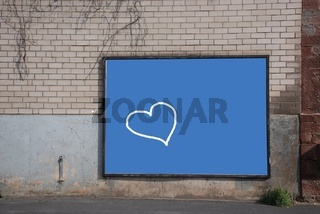 Herz auf Blau/A heart is dreaming of...