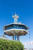 Radarüberwachung am Hafen in Travemünde