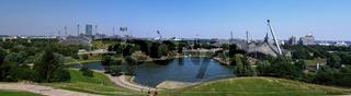 Panorama of the stadium in Olympic park, Munich