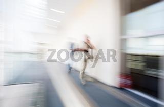 Blur background interior human figures