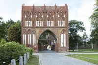 Das Stargarder Tor in Neubrandenburg, Ostdeutschland