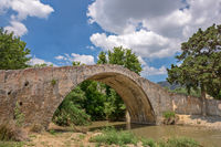 Old arch bridge on Crete, Greece