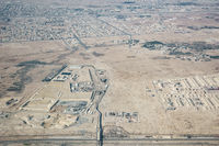 Aerial view of the outskirts of Doha