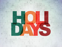 Holiday concept: Holidays on Digital Data Paper background
