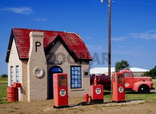 Historische Tankstelle von 1928,McLean,Texas,Route 66
