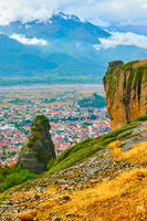 Autumn view of rocks in The Meteora