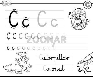 learn to write letter C workbook for kids