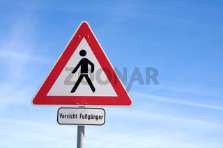 Vorsicht Fußgänger