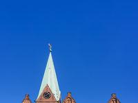 Abstrakte Darstellung der St.-Martini-Kirche in Bremen, Deutschland