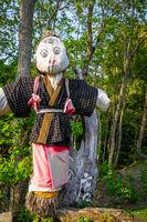 Japanese scarecrow in Nara Park, Japan