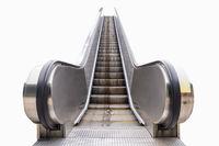 modern outdoor escalator isolated