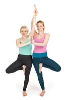 Yoga-Frauen Position 167