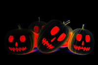 Halloween pumpkins, 3d illustration
