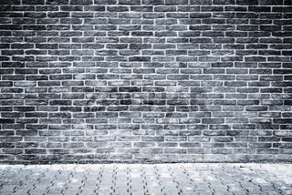 Monochrome image of the brick wall.