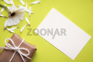 Message card and torn flower
