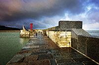 Hafen von Port-en-Bessin-Huppain, Normandie, Frankreich
