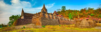 Shai-thaung Temple in Mrauk U. Myanmar. High resolution panorama