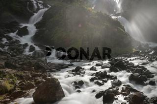 The Latefossen falls