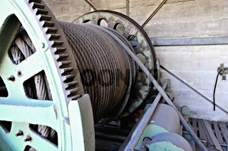 Stahlseil und Winde für Förderturm Zeche Westfalen Ahlen Deutschland