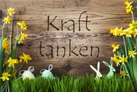 Easter Decoration, Gras, Kraft Tanken Means Relax