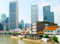 View of Boat Quay. Singapore