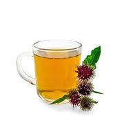 Tea herbal with burdock in mug