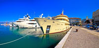 City of Rijeka yachting waterfront panoramic view