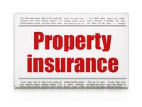 Insurance concept: newspaper headline Property Insurance