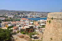 Rethymno Fortezza fortress city view