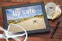 fly safe concept or reminderr