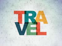 Tourism concept: Travel on Digital Data Paper background