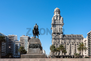 Salvo Palace on the Independence Square, Montevideo, Uruguay