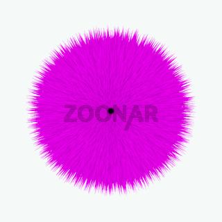Pink Fluffy Vector Hair Ball
