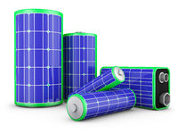 batteries with solar panels