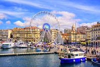 Marseilles city center and the old port, France